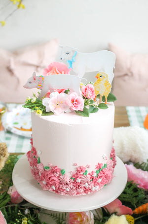 Ready to Ship Piped Floral Cake