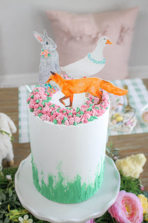Ready to Ship Spring Garden Cake