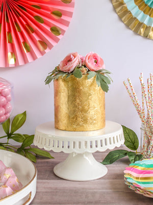 Ready To Ship Full Gold Leaf Cake