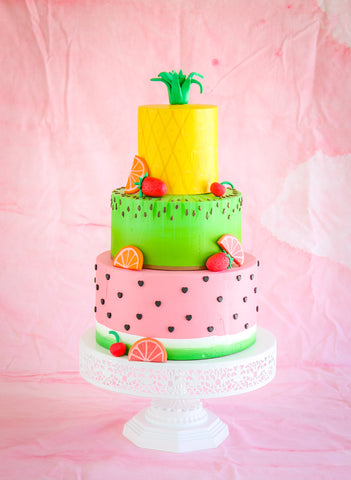 Fake Tutti Frutti Birthday Cake