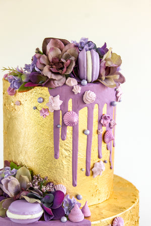 Dripped Gold Leaf Cake
