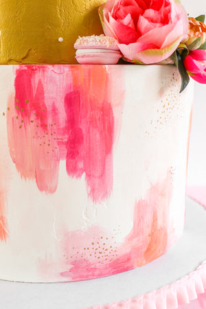 Watercolor Brushstroke Cake