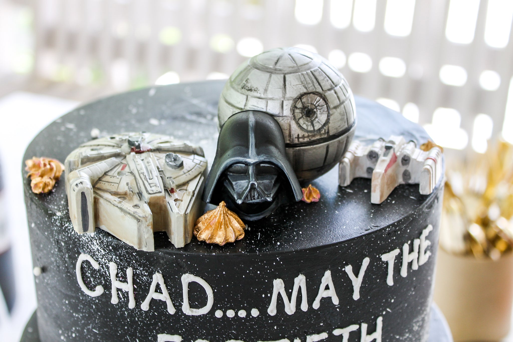 Awesome Star Wars Cake Toppers Confection Deception Funny Birthday Cards Online Elaedamsfinfo