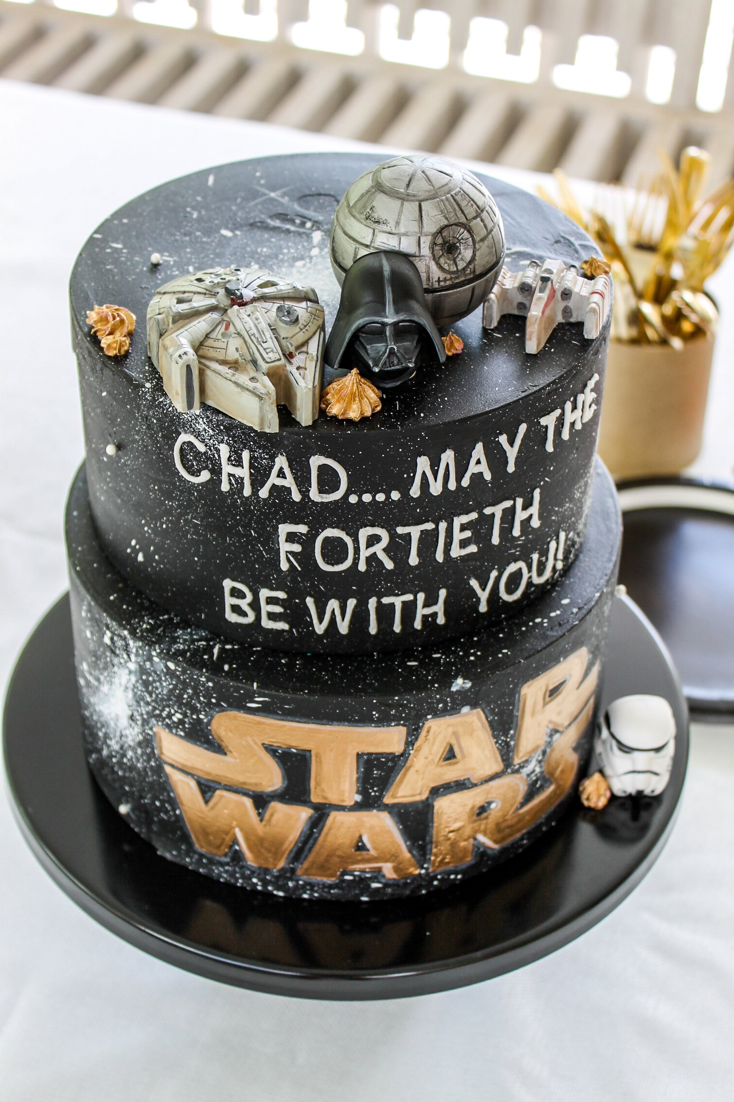 Marvelous Star Wars Cake Toppers Confection Deception Personalised Birthday Cards Fashionlily Jamesorg