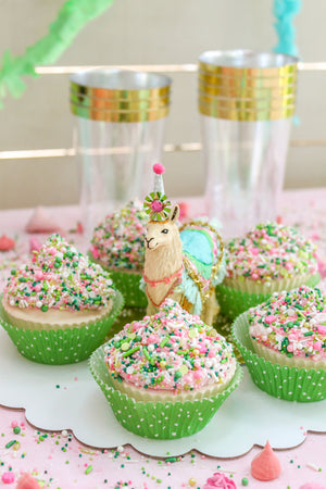 Ready to Ship Cactus Sprinkle Cupcakes