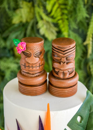 Tiki Head Cake Toppers