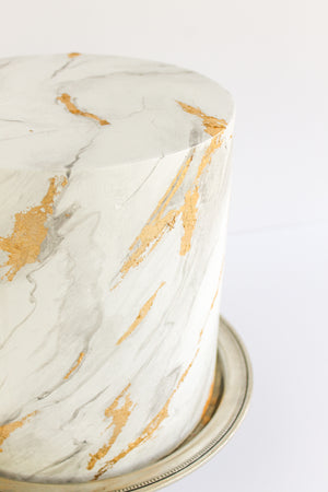Gold Leaf Marbled Cake