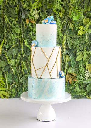 Metallic Geometric Cake