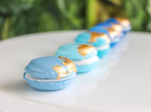 Mini Ombre Gold Leaf Macarons