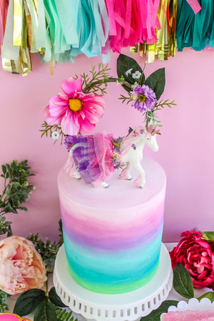 Ready to Ship Pastel Rainbow Ombre Cake