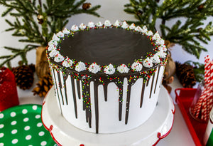 Chocolate Holiday Drip Cake