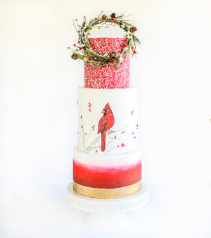 Winter Floral Ring Topper