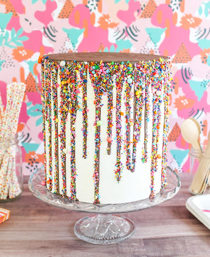 Sprinkled Drip Cake