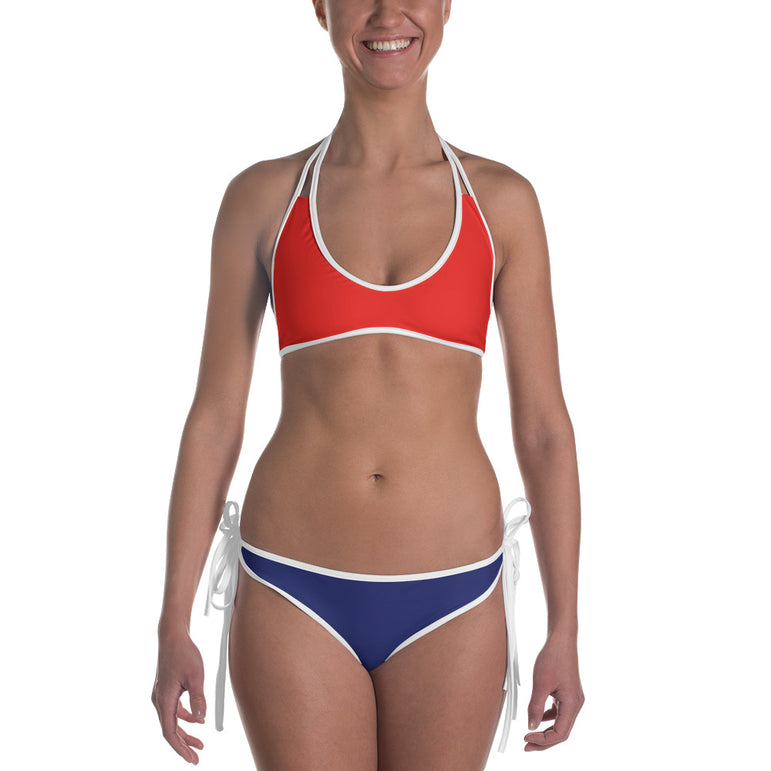 Ladies Reversible Flag Bikini