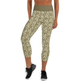 Digital Camo Capri Yoga Leggings