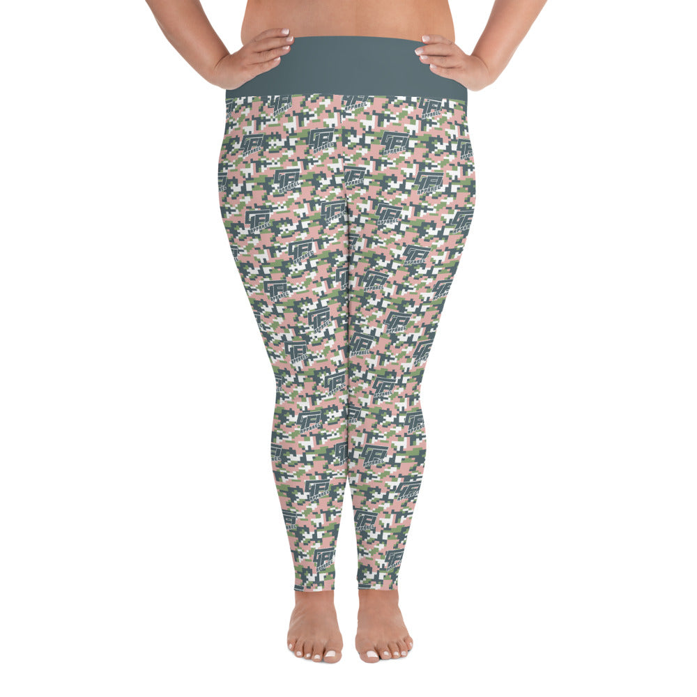 Curvy Digital Camo Yoga Leggings