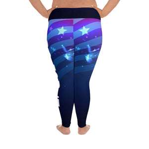Curvy Flag Yoga Leggings