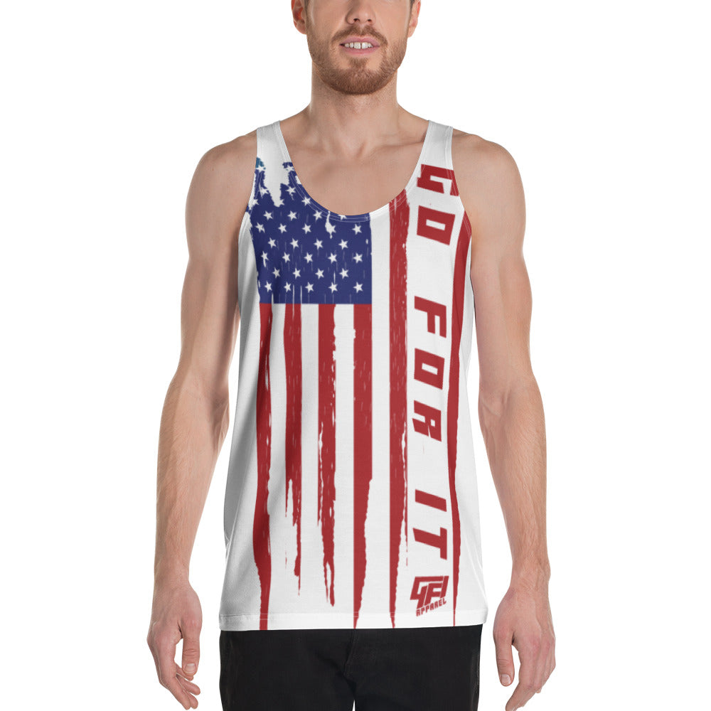 Men's Vertical Flag Tank
