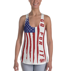 Ladies Vertical Flag Tank
