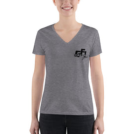 Ladies V-neck Logo Tee