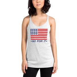 Ladies Flag Racerback Tank