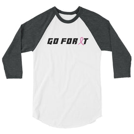 Breast Cancer Unisex 3/4 Sleeve Raglan Shirt