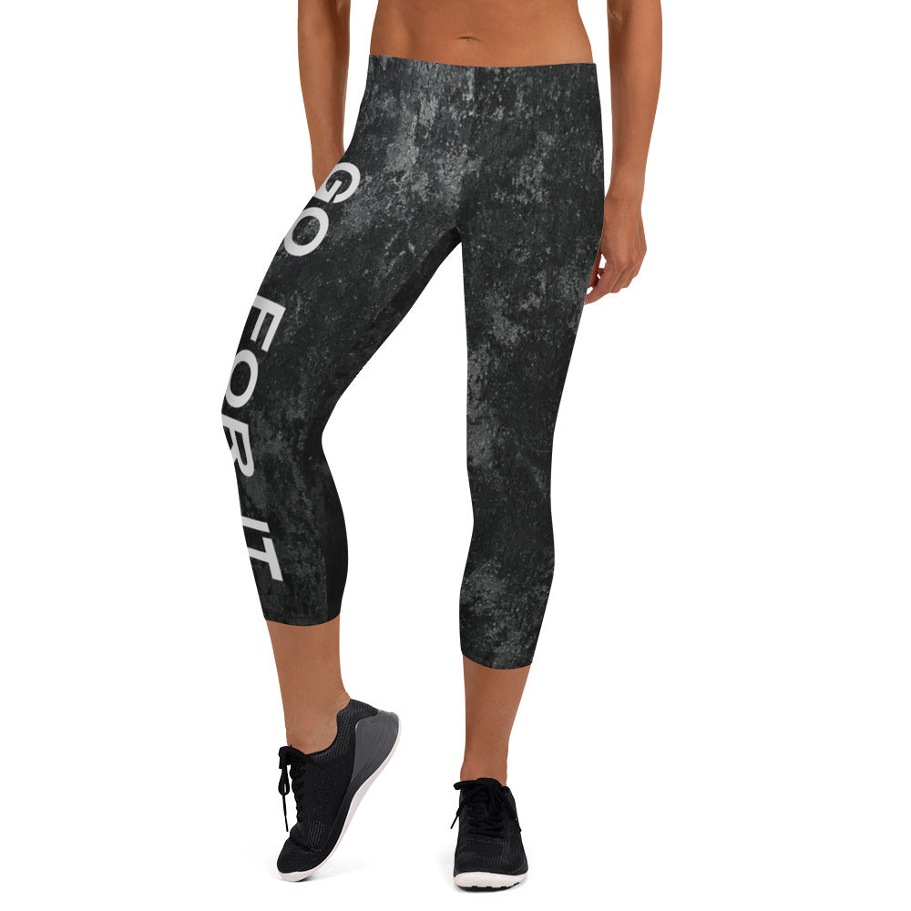Ladies Crop Marble Leggings