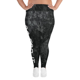 Curvy Marble Yoga Leggings