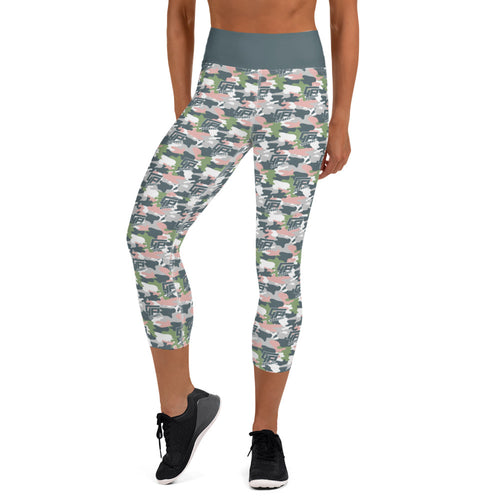 Camo Capri Yoga Leggings