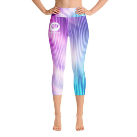 Cotton Candy Crop Yoga Leggings