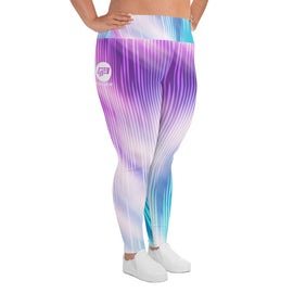 Curvy Cotton Candy Yoga Leggings
