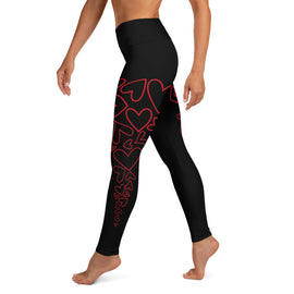 Red Heart Yoga Leggings