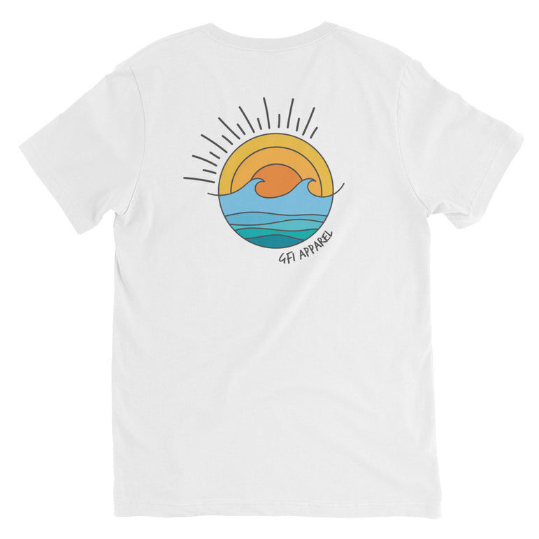 Salty Unisex Short Sleeve V-Neck T-Shirt