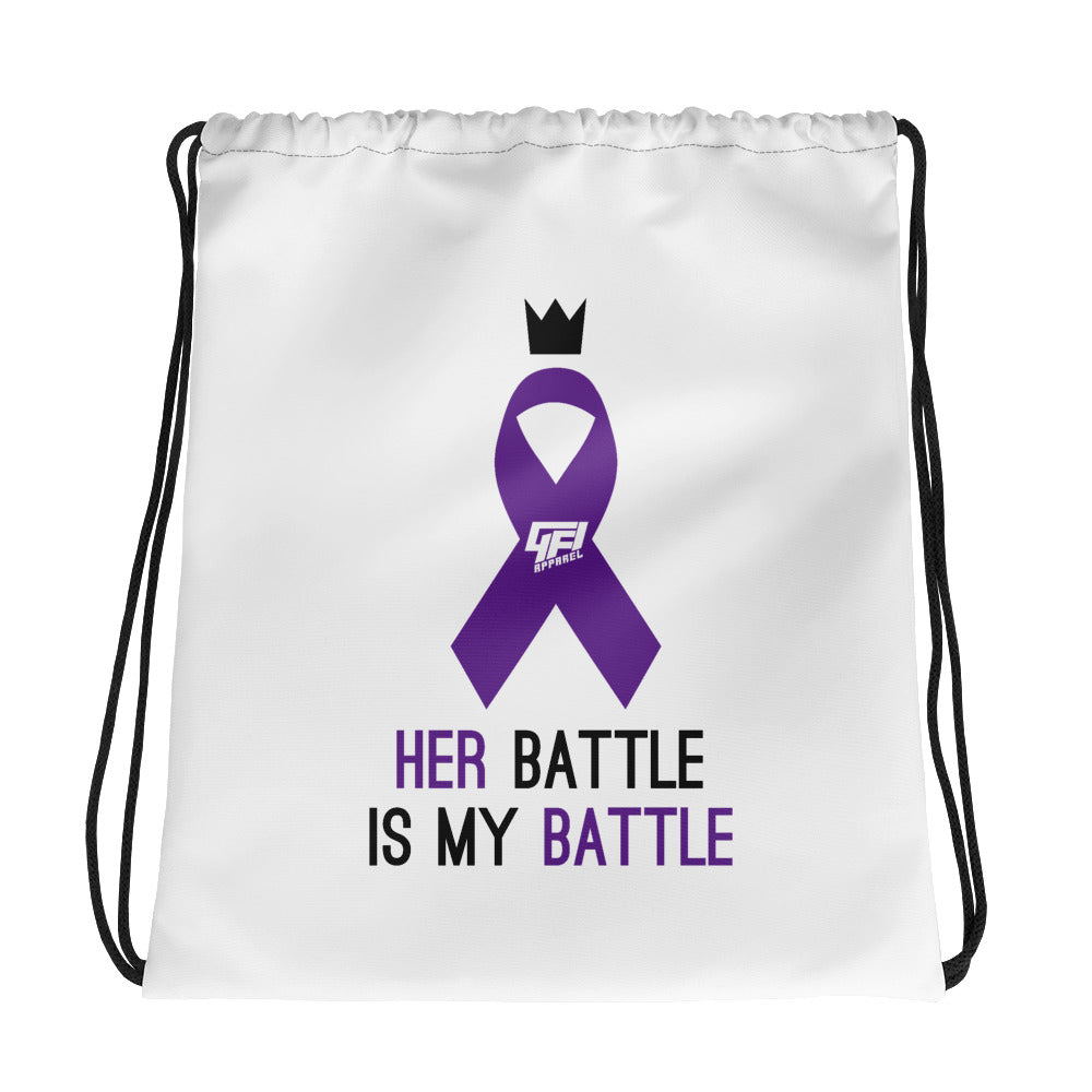 Epilepsy Awareness Drawstring Bag