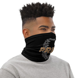 Pride Neck Gaiter Black (logo outline)