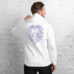 Pride Hoodie Purple and Blue lion