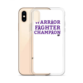 Warrior Fighter Champion Liquid Glitter Phone Case