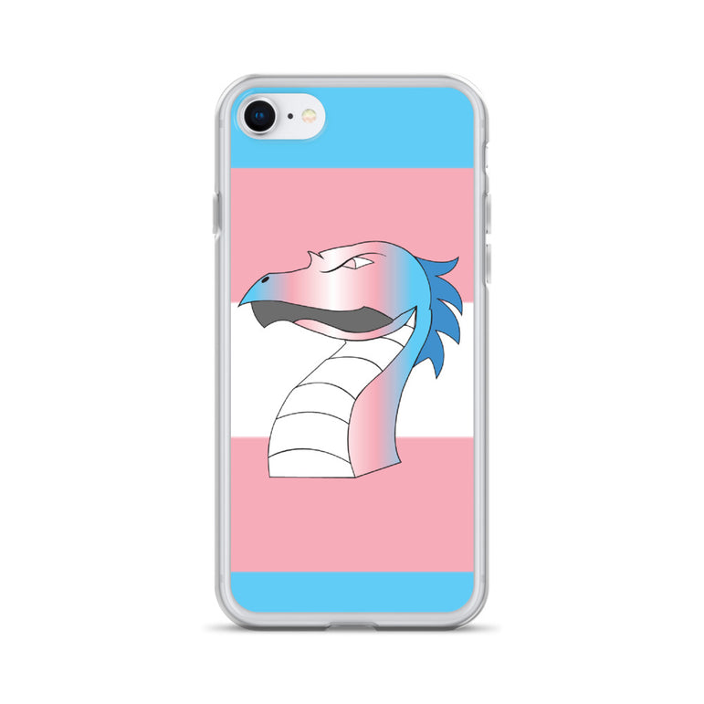 Trans Flag Dragon iPhone Case