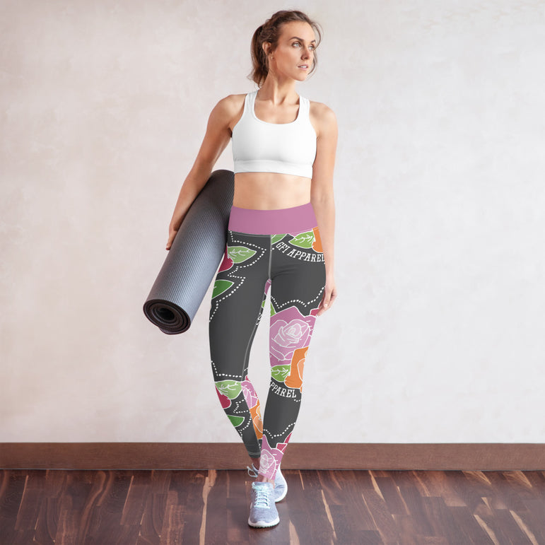 Roses Yoga Leggings