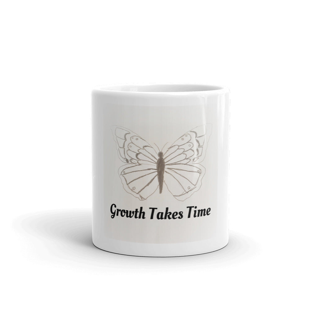 Growth Takes Time Butterfly Mug