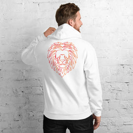 Orange fire Lion Hoodie