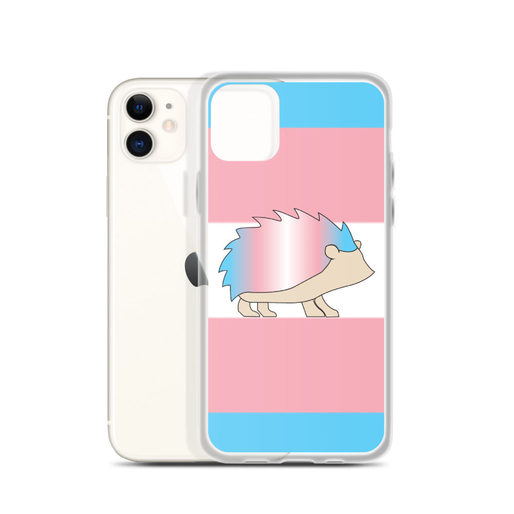 Trans Flag Hedgehog iPhone Case