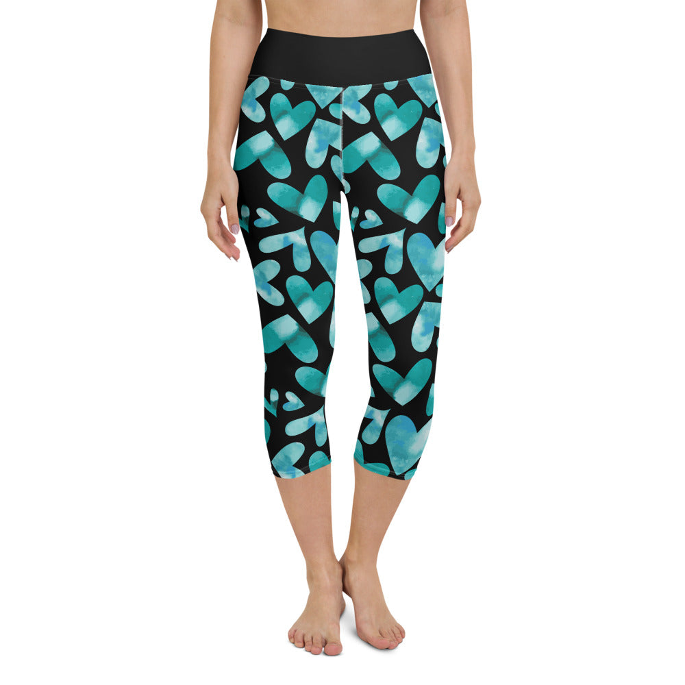 Black Heart Yoga Capri Leggings
