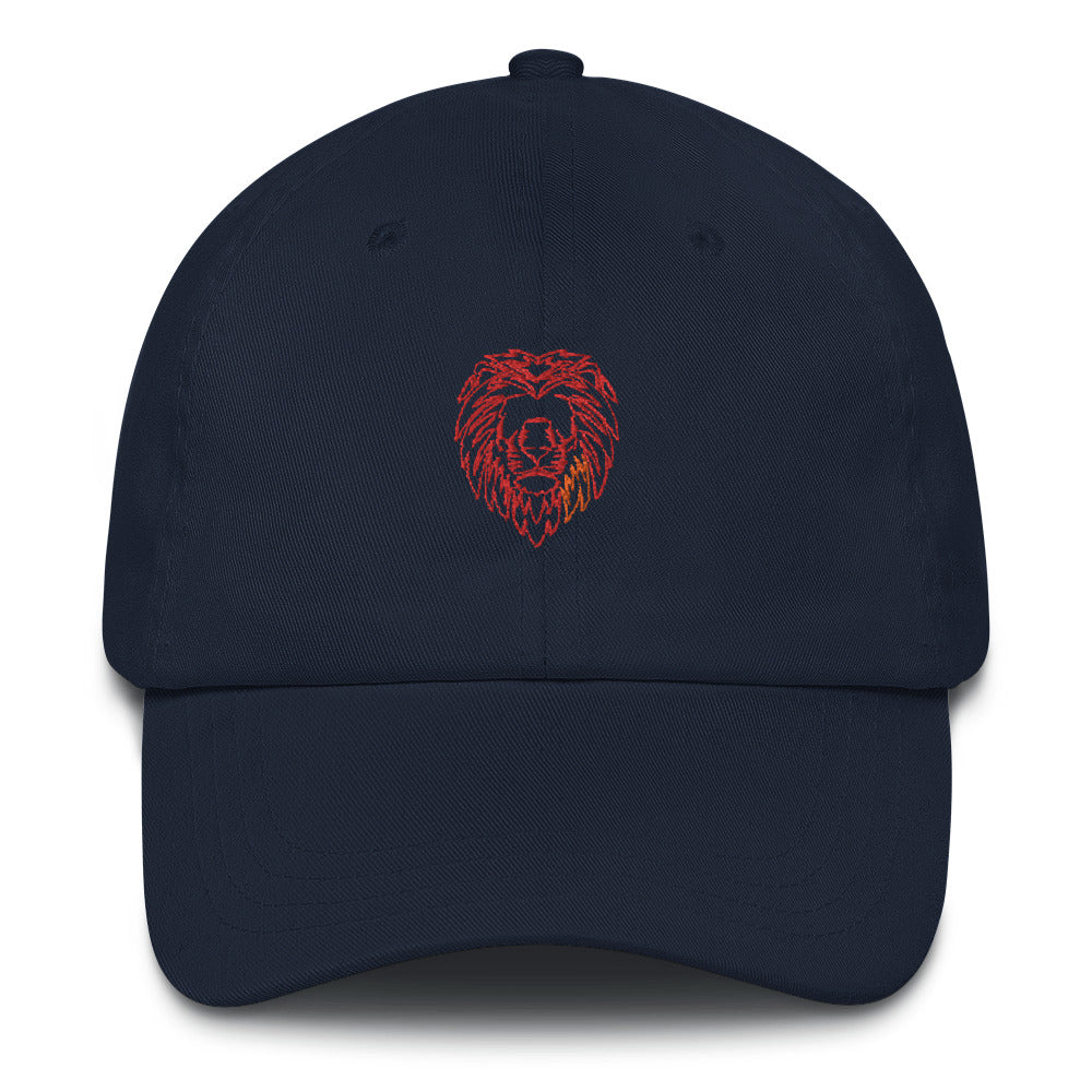 Orange Fire Lion Hat