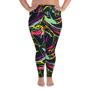Curvy Splatter Yoga Leggings