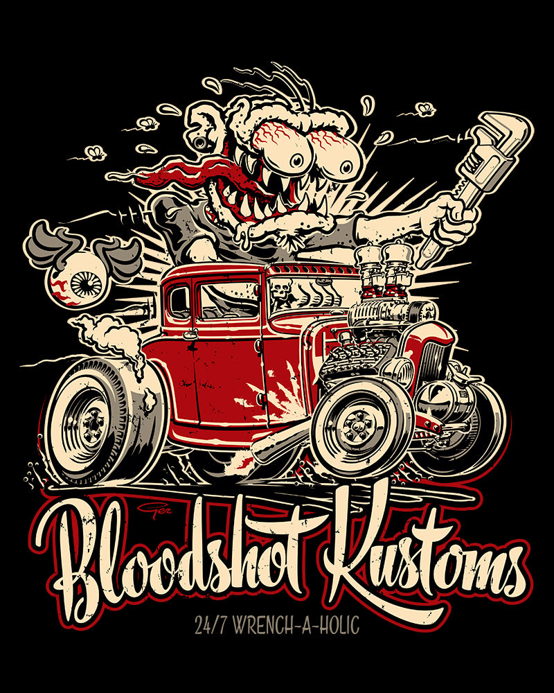 Bloodshot Kustoms...Monkey Wrench-a-Holic