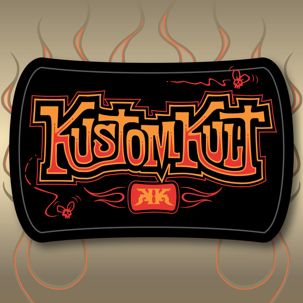 KUSTOM KULT BELT BUCKLE STICKER