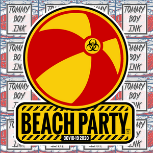 BEACH PARTY STICKER