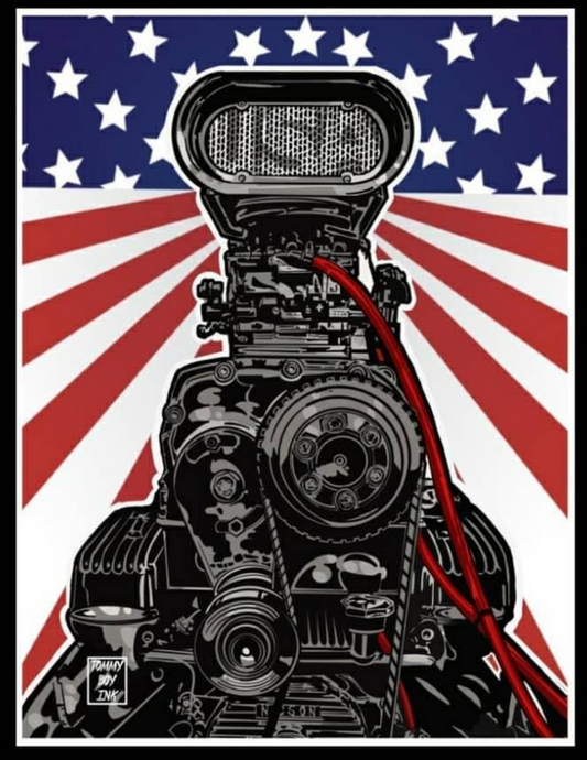 BLOWN  IN THE USA MANCAVE BANNER