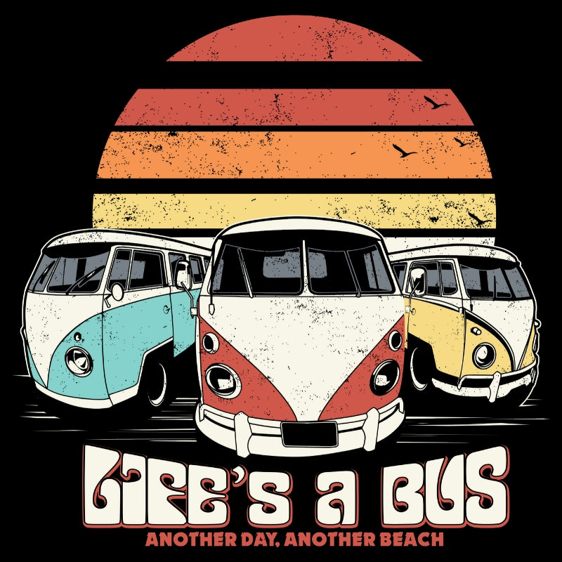 Life's a Bus...retro sunset